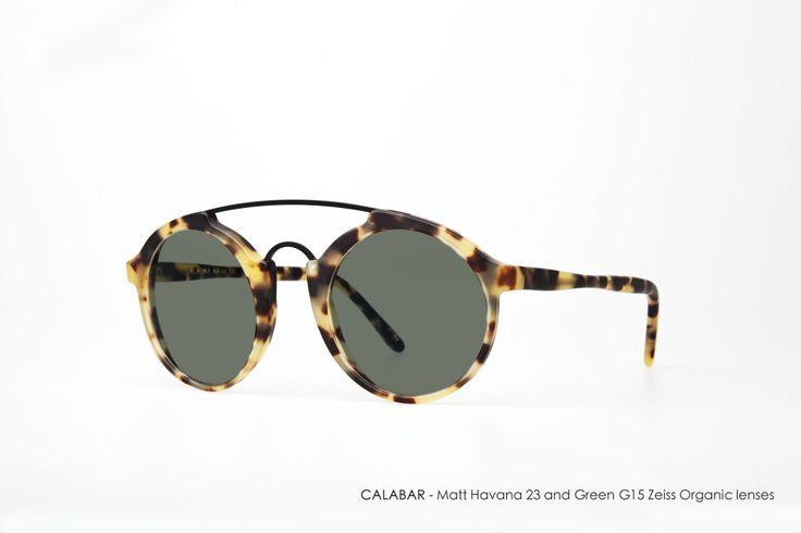 CALABAR in Matt Havana 23 with Green G15 Zeiss Organic lenses