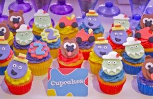 Wiggles Themed Cupcakes