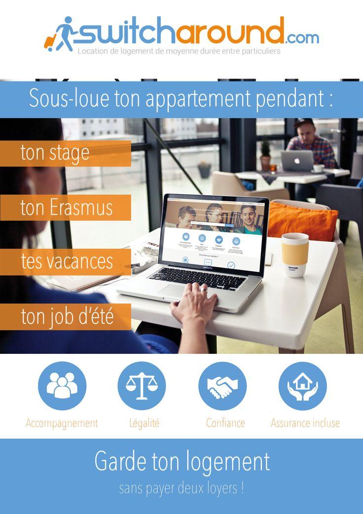 affiche Switcharound.com #sous-location #switcharound #bordeaux #étudiant