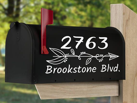 Western  decals rustic mailbox  decal Cactus  mailbox decal Custom Boho  Mailbox Decal Personalized coyote mailbox decal