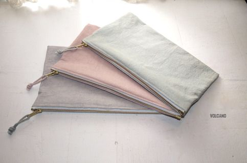 Handmade Durable Canvas Zipper Pouch Closes With A Strong