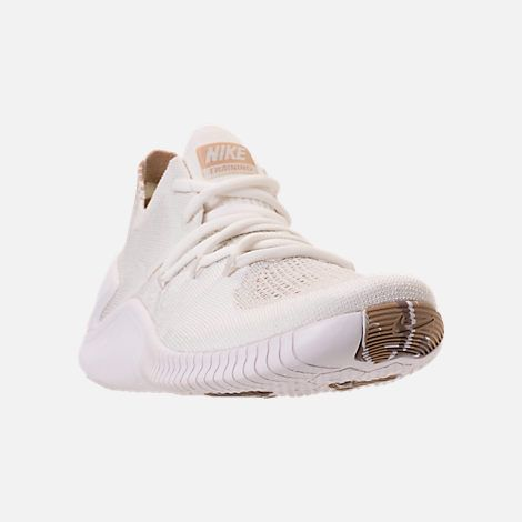 0888b6a6b167 Three Quarter view of Women s Nike Free TR Flyknit 3 AMP Training Shoes in  White Sand Sepia Stone