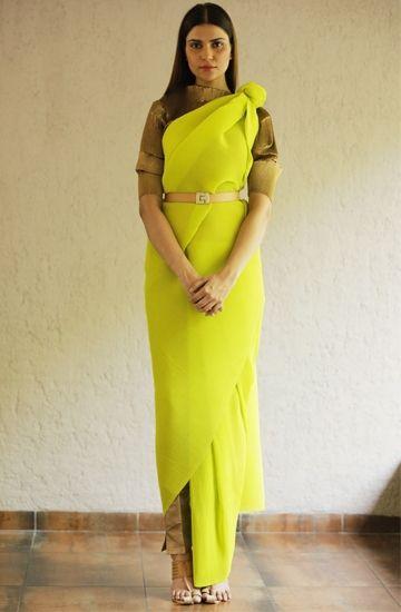 Kiran Uttam Ghosh. Modern drape of saree