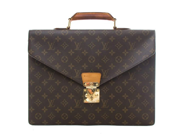 Authentic Louis Vuitton Monogram Serviette Conseiller Business Bag M53331