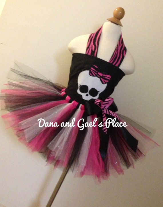 Baby Girl Monster High Skull Tutu and top