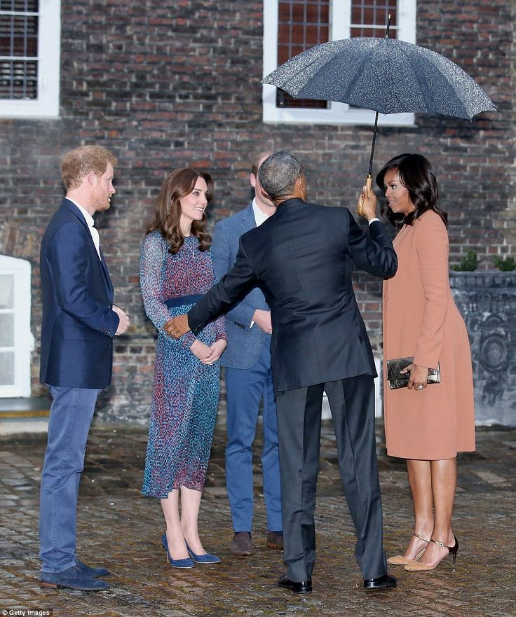 The Obamas grew a fondness to William and Kate, when they first met at Buckingham Palace f...