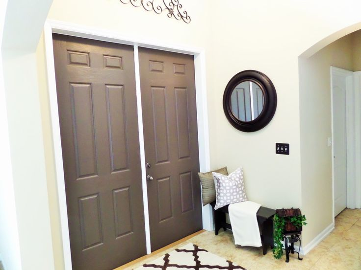 interior front painted interior interior doors decor makeover entryway. Black Bedroom Furniture Sets. Home Design Ideas