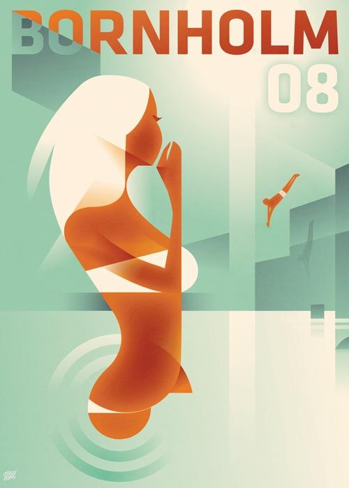 "PG346 ""Bornholm 08"" Poster by Mads Berg (2008)"
