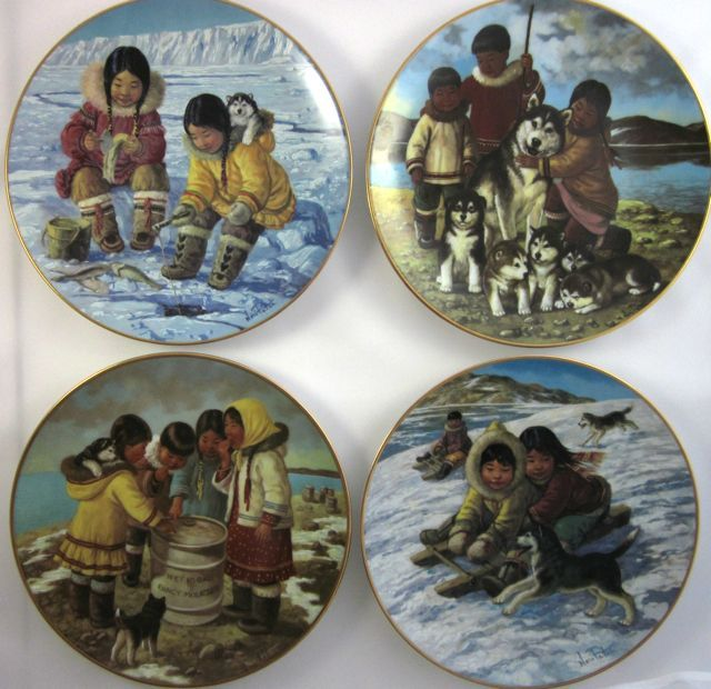 NORI PETER SIGNED Arctic Spring plate by Anna Perenna 1984