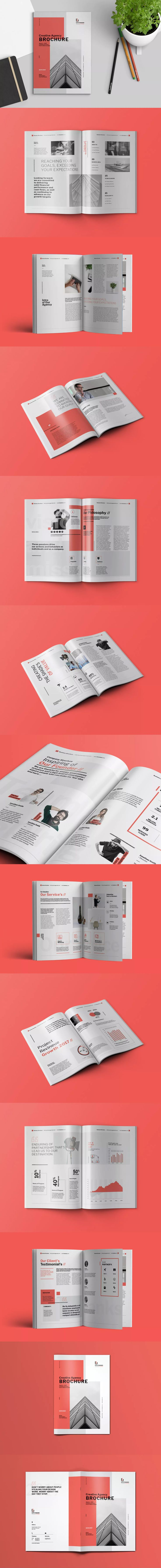 Business Brochure Template InDesign INDD - A4 and US Letter Size #unlimiteddownloads
