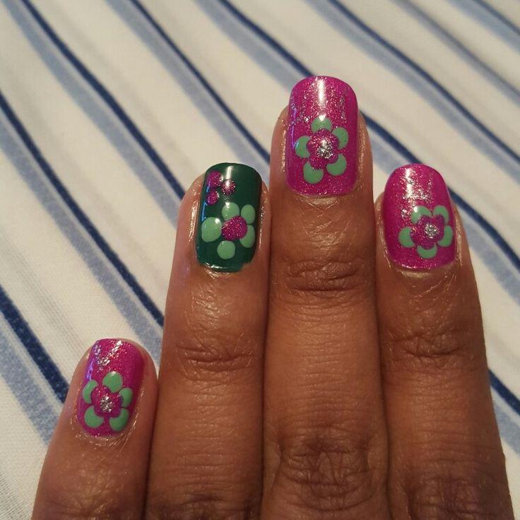 April showers bring May flowers #nails #naildesigns #nailart