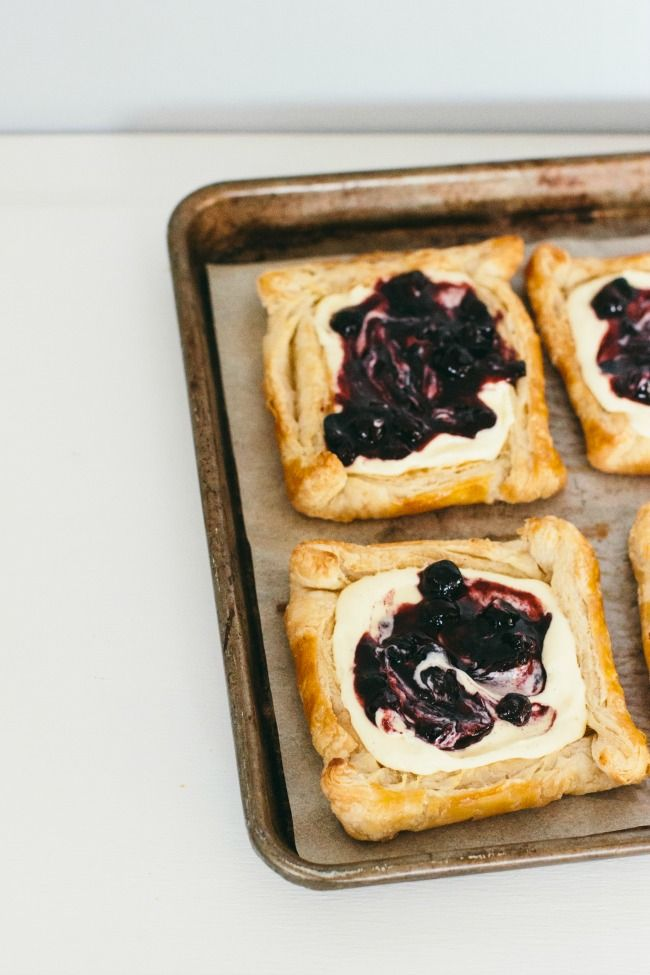 puff pastry tarts with twangy blueberries | the vanilla bean blog