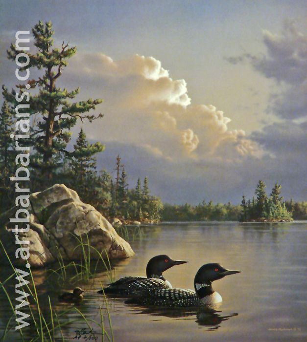 Loon painting - photo#5