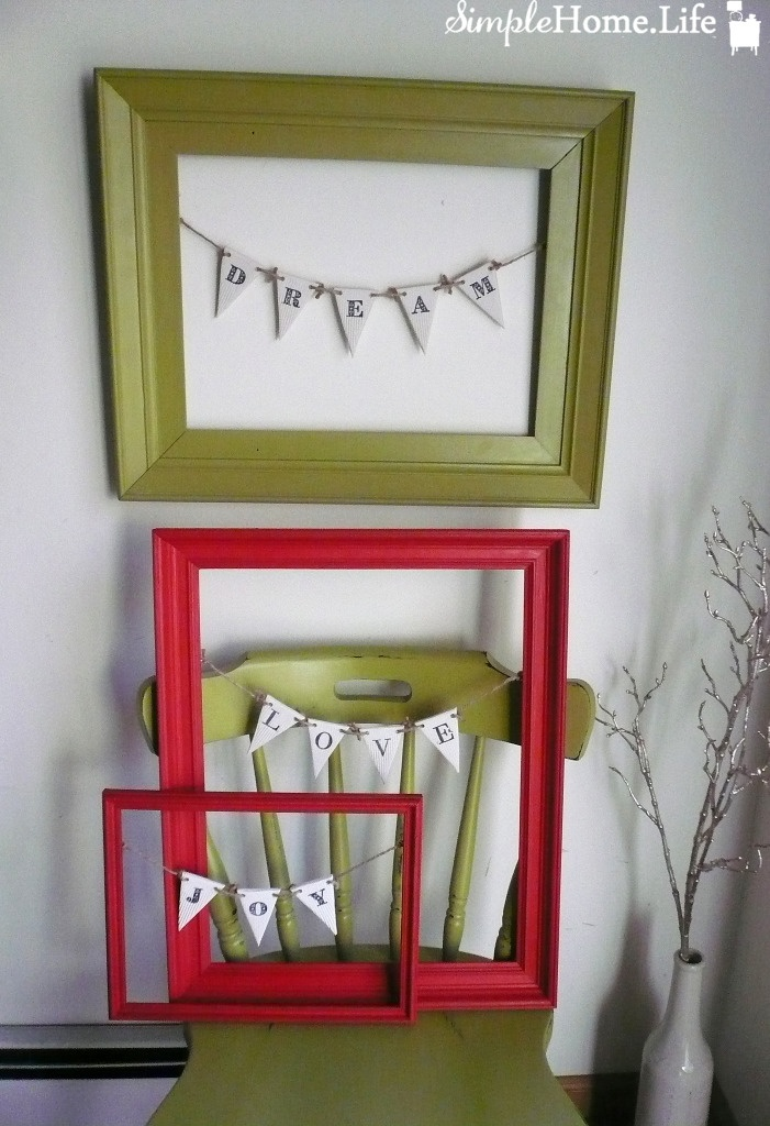 empty frames. See More. Simple Home Life's framed buntings