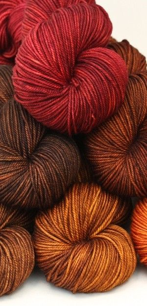 Autumn coloured yarns perfect for crochet cushions and throws