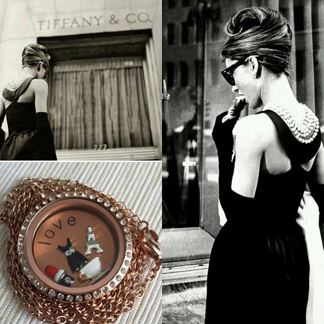 Breakfast at Tiffany's themed locket. Design your Jewelry that fits your personality. Made with high quality materials. Visit my website listed below or click the picture.  https://www.southhilldesigns.com/ca/anjhrnndz/ProductList.aspx?wid=1&wcid=33&val=Locket
