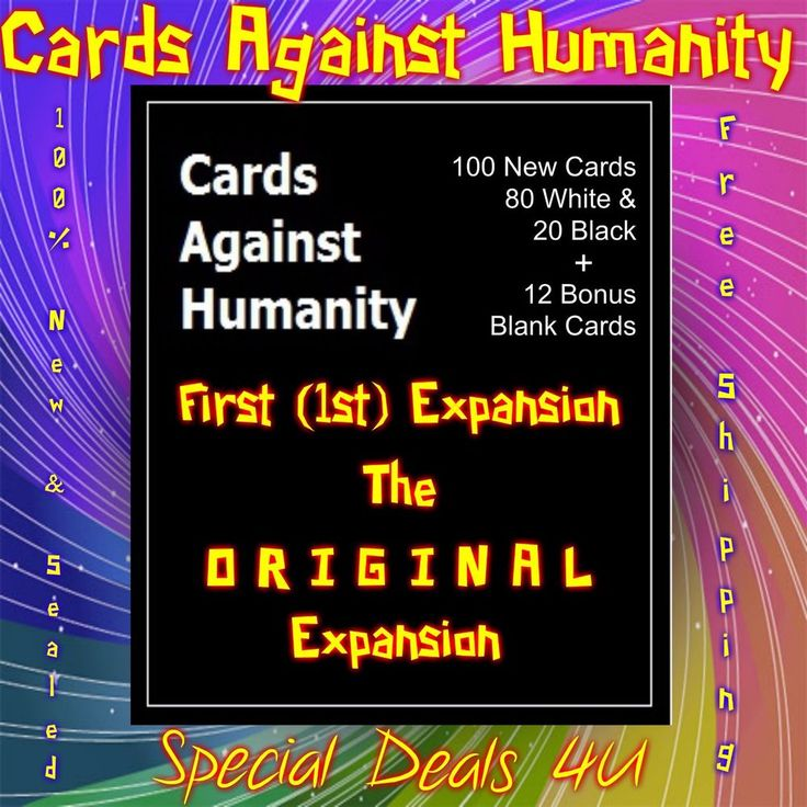 Cards Against Humanity First 1st Expansion 100 New Card Game Party Set Packs Oh! #New