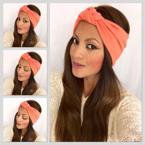 knotted headband In Melon Fasion Head Wrap Workout Headband Head Wrap | eBay