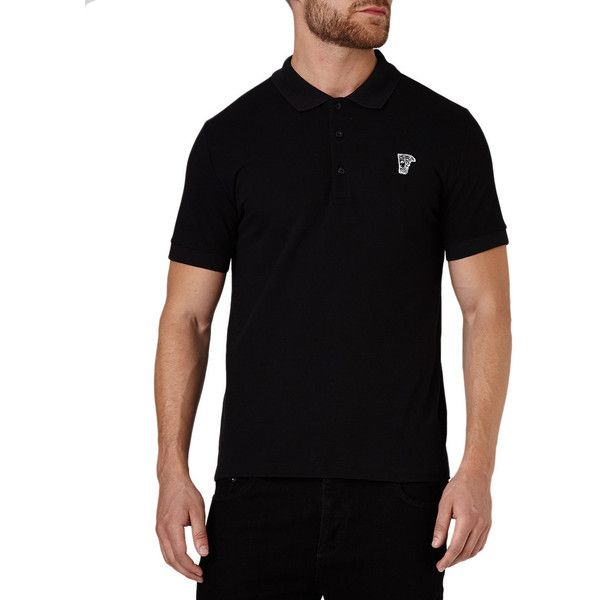 Versace Collection Men's Black Pique Cotton Medusa Short Sleeve... (€82) ❤ liked on Polyvore featuring men's fashion, men's clothing, men's shirts, men's t-shirts, black, mens polo t shirts, mens leopard print t shirt, mens short sleeve t shirts, mens polo pullover and mens polo shirts