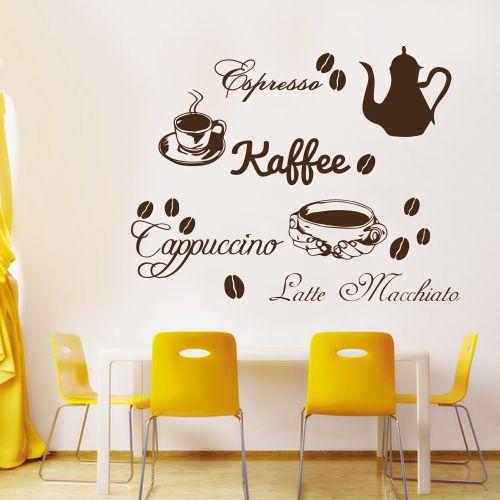 Wandtattoo  -  Kaffee Cappucino Espresso Latte Macchiato