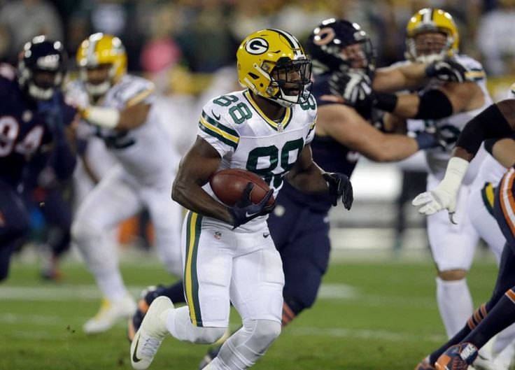 Thursday Night Football: Bears vs. Packers  -  October 20, 2016  -  26-10, Packers  - Green Bay Packers wide receiver Ty Montgomery (88) carries the ball during the first half of an NFL football game against the Chicago Bears, Thursday, Oct. 20, 2016, in Green Bay, Wis.