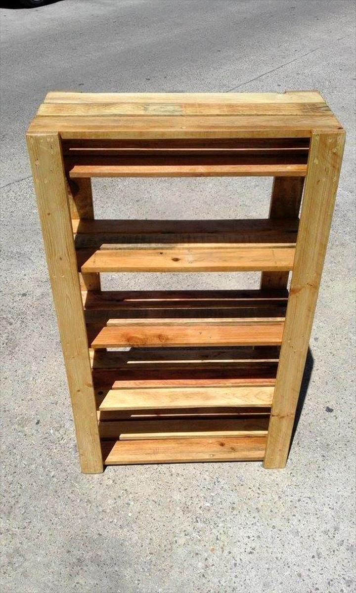 easy to make pallet shoe rack pallet shoe rack diy on wood shoe rack diy simple id=93318