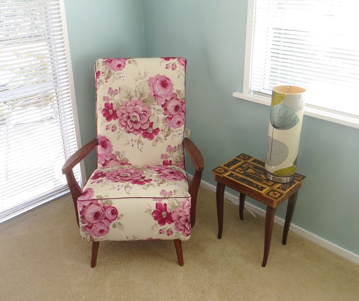 Revamped 60's chair at www.roseandsunday.co.nz