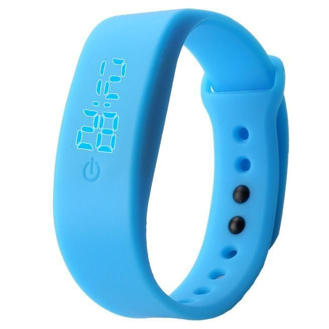 Womens Mens Rubber LED Watch Date Sports Bracelet Digital Wrist Watch