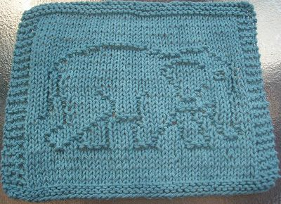 DigKnitty Designs: Elephant Knit Dishcloth Pattern