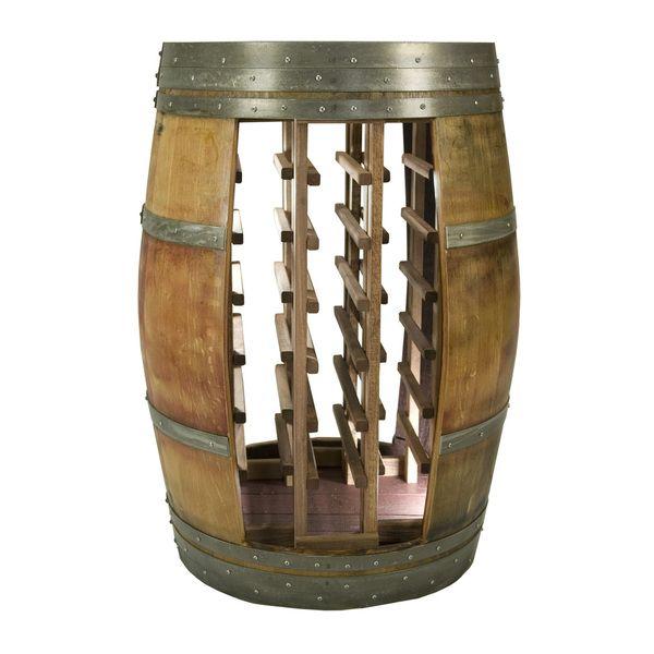 Whole Barrel Wine Rack