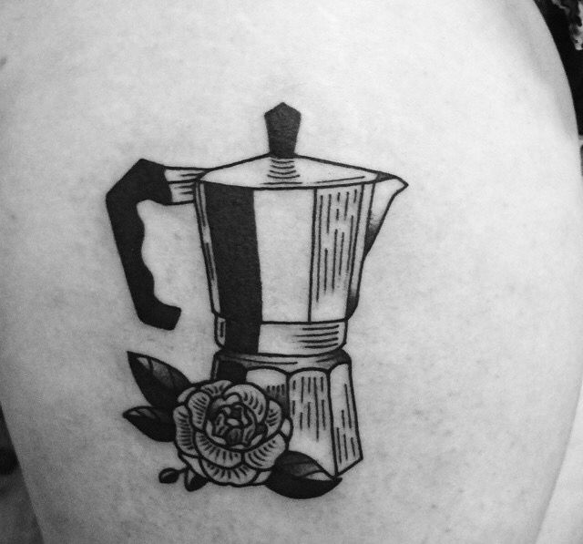 Armelle Stb Tattoo / France; coffee pot filler