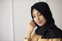 Portrait Of A Beautiful Arab Woman Face With A Black Scarf - Download From Over 53 Million High Quality Stock Photos, Images, Vectors. Sign up for FREE today. Image: 34168325