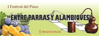 """Programa del I Festival del Pisco """"Entre Parras y Alambiques"""" 28 y 29 de Octubre  http://www.elpiscoesdelperu.com/web/index.php?ver_opt=det_noticia&id=689"""