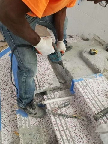 Precast Terrazzo Tread And Risers Being Installed At The Construction Site Www Terrazzco