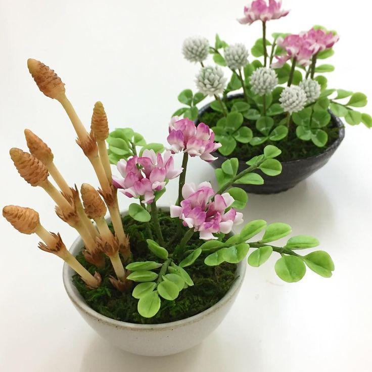 春の野の花に咲くつくしやシロツメクサを樹脂粘土で作って飾りませんか☆今回は春によく見かけるポピュラーな植物(つくし、たんぽぽ、クローバー、シロツメクサ、チューリップ)の作り方を動画でご紹介致します!