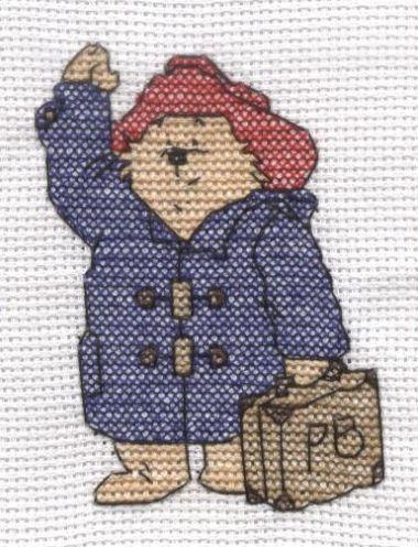 Paddington Bear  Cross Stitch Card Shop Issue 60 May/June 2008 Saved