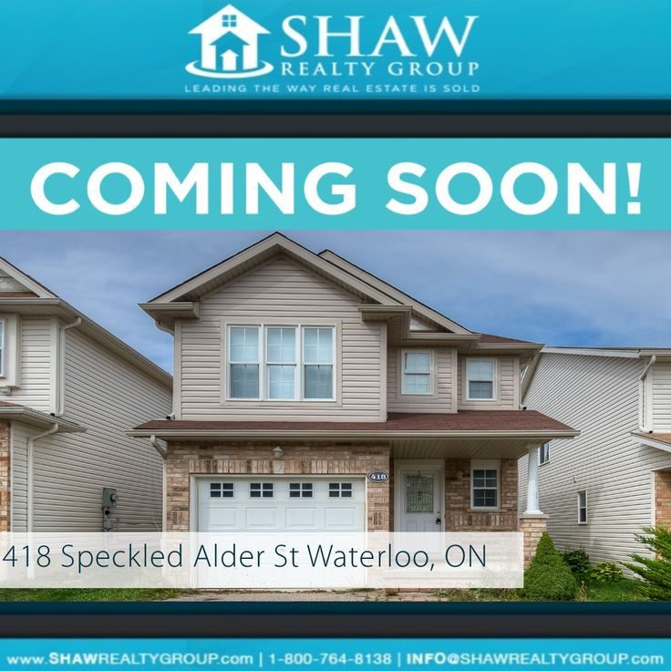 "***JUST LISTED!*** If you're still considering a move. We can help! Check out this lovely bright open concept home. Decora ""Lyndon"" model w/ ensuite bath upgrade. Call us today to set up a showing! #NewListing #Waterloo #RealEstate #LeadingTheWayRealEstateIsSold www.ShawRealtyGroup.com"
