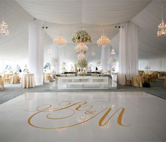 Dance floor decal wedding decor wedding decoration by signjunkies