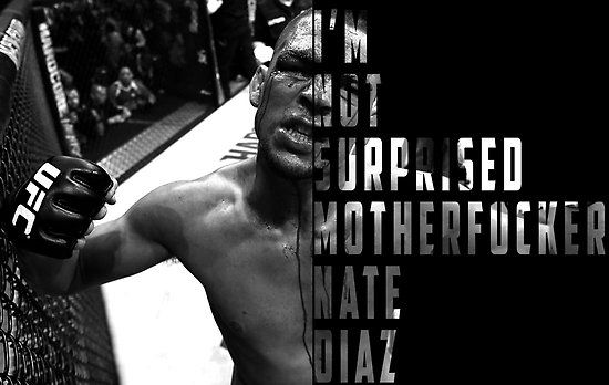 'I'M NOT SURPRISED MOTHERFUCKER' Nate Diaz by REJ96