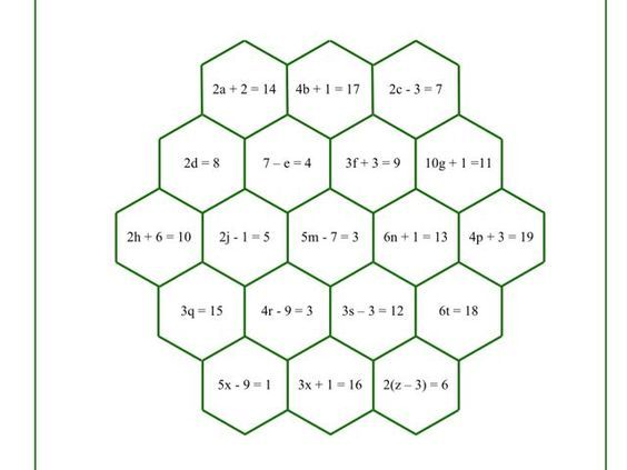 Maths Year 6 algebra, KS3 or KS4 revision.  Two games to try - throw the dice, match to equation.