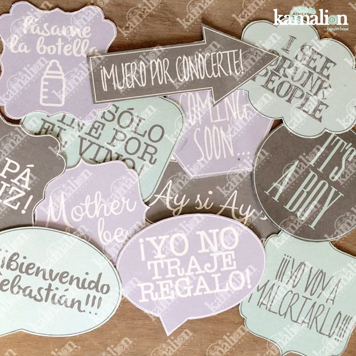 www.kamalion.com.mx - Signs / Letreros / Detalles Personalizados / Vintage / Baby Shower / It's a boy / Mint / Menta / Lila / Photocall / Photobooth / Props / Fotos.