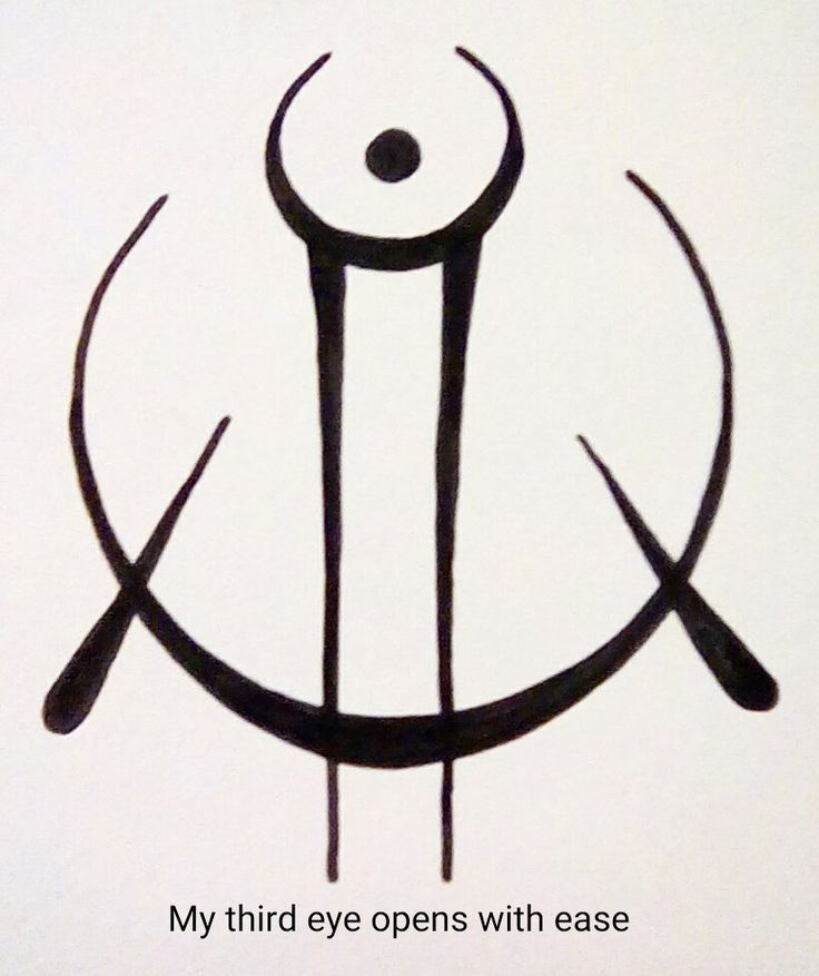 """My third eye opens with ease"" sigil requested by anonymous"