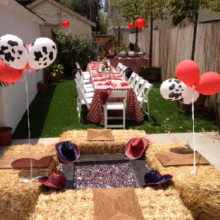 Western theme party decor awesome birthday idea for my guys