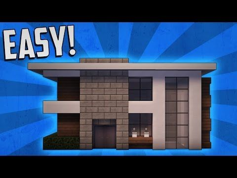 Minecraft: How To Build A Small Modern House Tutorial (