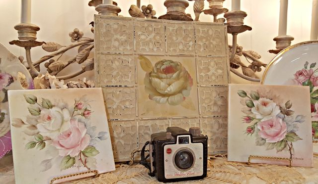 Penny's Vintage Home: Travel Themed Decor in the Family Room