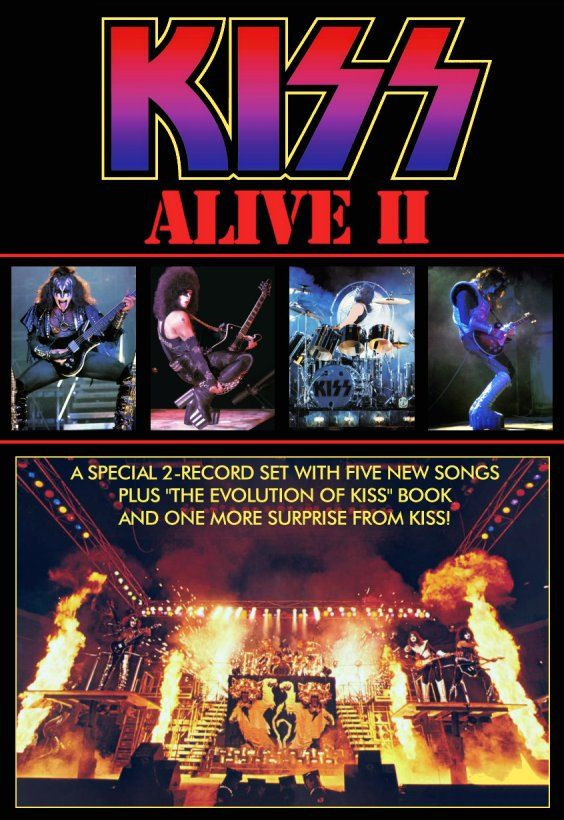 KISS Army KISS Collectibles Retro KISS Alive 2 Promotional Ad Stand-Up Display # 6 Kiss Memorabilia Kiss Room Gift Idea Kiss Music kiss76