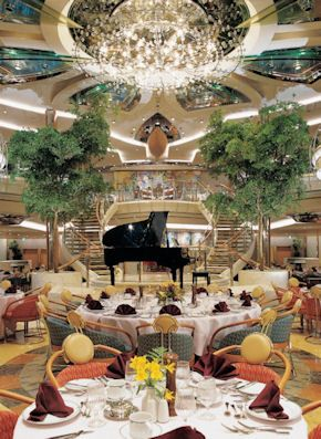 #SailwithCelebrity Vision of the Seas Dining | The Main Dining Room on Royal Caribbean's Legend of the Seas