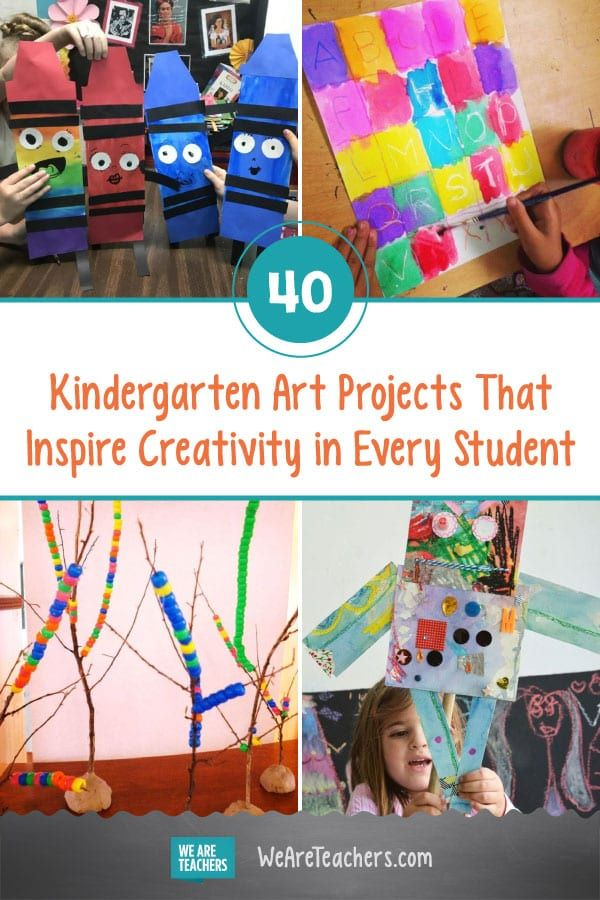 40 Of The Best Kindergarten Art Projects For Your Classroom In 2020 Kindergarten Art Projects Kindergarten Art Lessons Homeschool Art Projects