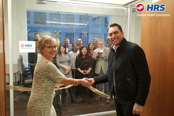 HRS | Tobias Ragge, CEO di HRS Global Hotel Solutions, e Suzanne Neufang, Vice President America, hanno inaugurato il nuovo ufficio HRS a New York, NY.