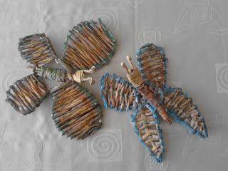 motyle z wikliny papierowej